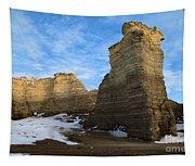 Blue Skies At Monument Rocks Tapestry