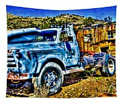 Blue Truck Tapestry