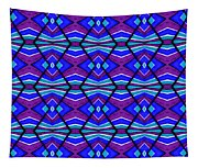 Blue Turquoise And Purple Tapestry