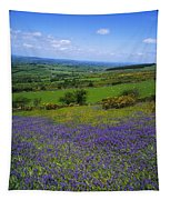 Bluebell Flowers On A Landscape, County Tapestry