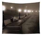 Boardwalk In The Fog Tapestry