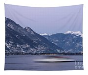 Boat And Alps Tapestry