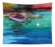 Boat And The Buoy Tapestry