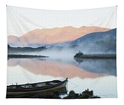 Boat On A Tranquil Lake Killarney Tapestry