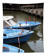 Boats In Amsterdam. Holland Tapestry