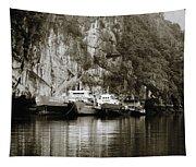 Boats On Halong Bay 1 Tapestry