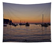 Boats On The Adriatic Sea Tapestry