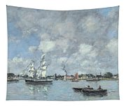 Boats On The Garonne Tapestry