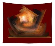 Bold Shapes On Red Tapestry