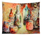 Bottles And Glasses And Mugs 03 Tapestry