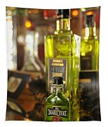 Bottles With Absinthe In Bar Tapestry
