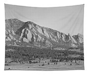 Boulder Colorado Flatiron Scenic View With Ncar Bw Tapestry