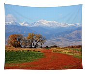 Boulder County Colorado Landscape Red Road Autumn View Tapestry