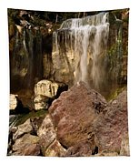 Boulders Under The Falls Tapestry