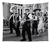 Bourbon Street Second Line Wedding New Orleans In Black And White Tapestry