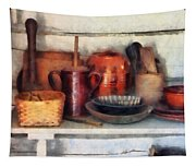Bowls Basket And Wooden Spoons Tapestry