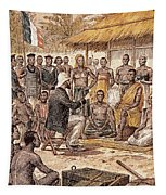 Brazza In Africa, 1880 Tapestry