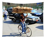 Bread On A Bicycle Tapestry