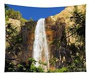 Bridal Veil Falls At Yosemite Tapestry