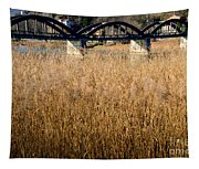 Bridge And Pampas Grass Tapestry