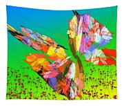 Bright Elusive Butterflys Of Love Tapestry