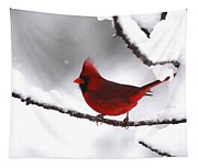 Bright In The Snow - Cardinal Tapestry
