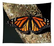 Bright Orange Monarch Butterfly Tapestry