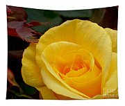 Bright Yellow Rose Tapestry