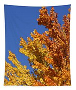 Brilliant Fall Color And Deep Blue Sky Tapestry