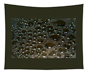Bubbles Of Steam Black Tapestry