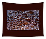 Bubbles Of Steam Cherry Wine Red Tapestry
