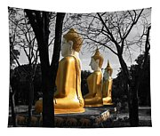 Buddha In The Jungle Tapestry