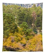 Bull Elk Lake Crusing With Autumn Colors Tapestry