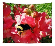 Bumblebee And Snapdragon Tapestry