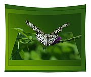 Butterfly White 16 By 20 Tapestry