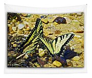 Butterlies At The Beach Tapestry