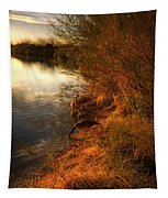 By The Evening's Golden Glow Tapestry