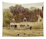 By The Old Cottage Tapestry