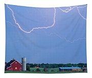 C2c Red Barn Lightning Rodeo  Tapestry