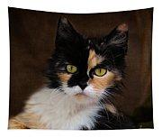 Calico Cat Portrait Tapestry