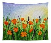 California Poppies Field Tapestry