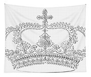 Calligraphy Crown Tapestry