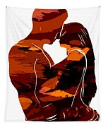 Camouflage Lovers Tapestry