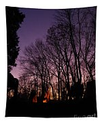 Camp Fire Sunset Tapestry