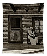 Canadian Gothic Sepia Tapestry