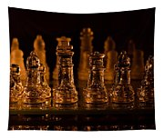 Candle Lit Chess Men Tapestry