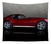 Candy Apple Corvette Tapestry
