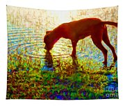 Canelo Drinking Water By The Lake Tapestry