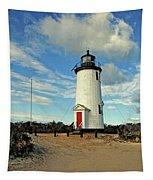 Cape Pogue Lighthouse Marthas Vineyard Tapestry