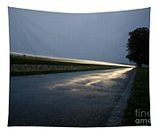 Car Lights At Night Tapestry